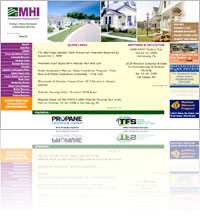 A snapshot of Manufactured Housing Institute (MHI) website